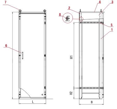 Шкаф сборно-разборный IP54